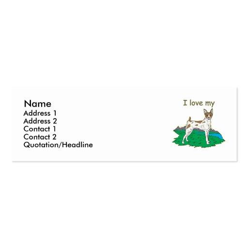 Rat Terrier Business Card Templates