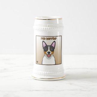 Rat Terrier Cartoon Beer Stein