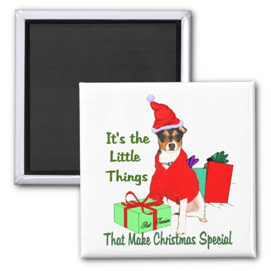 Rat Terrier Christmas Gifts Magnet