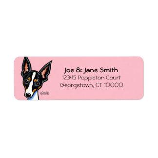 Rat Terrier Custom Color Label