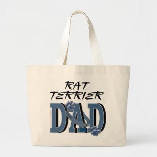 Rat Terrier DAD Canvas Bag