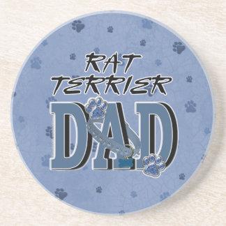 Rat Terrier DAD Drink Coaster