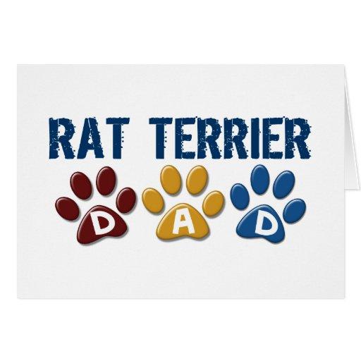 RAT TERRIER Dad Paw Print 1 Greeting Card