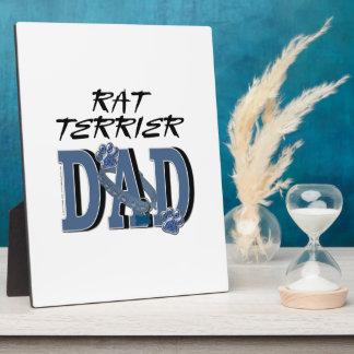 Rat Terrier DAD Photo Plaque
