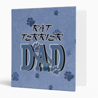 Rat Terrier DAD Vinyl Binders