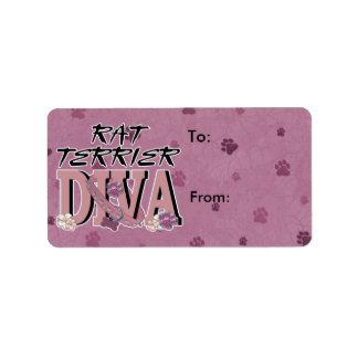 Rat Terrier DIVA Label