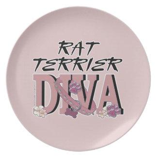 Rat Terrier DIVA Party Plates