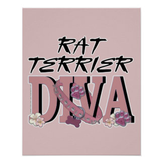 Rat Terrier DIVA Poster