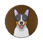 Rat Terrier Dog Cartoon Paws Jelly Belly Tins