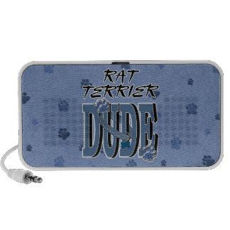Rat Terrier DUDE iPod Speakers