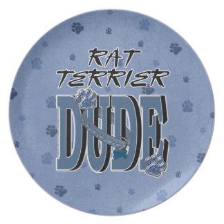 Rat Terrier DUDE Plates