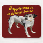 rat terrier happiness mouse pads