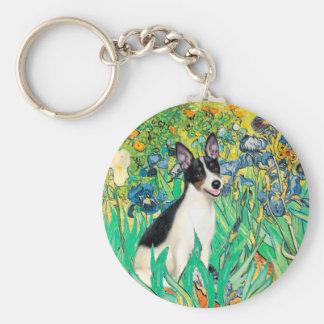 Rat Terrier - Irises Basic Round Button Keychain