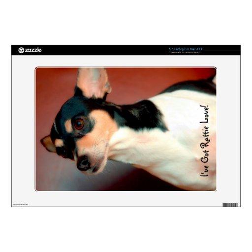 Rat Terrier Laptop Skin