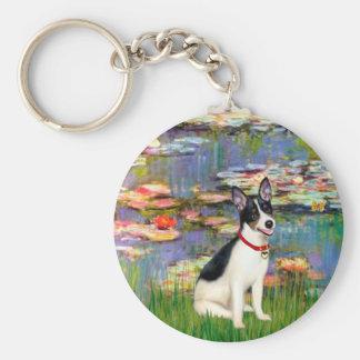 Rat Terrier - Lilies 2 Keychains