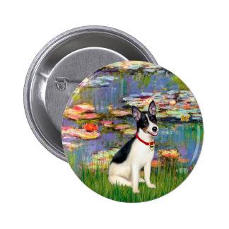 Rat Terrier - Lilies 2 Pinback Button