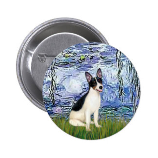 Rat Terrier - Lilies 6 Pinback Button