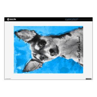 "Rat Terrier, Modern Art, Decals For 15"" Laptops"