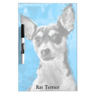 Rat Terrier, Modern Art, Medium Dry Erase Board