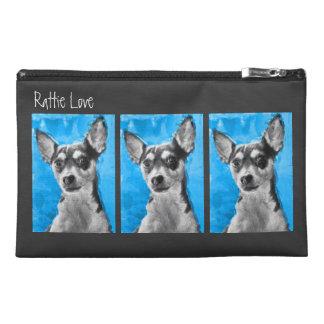 Rat Terrier, Modern Art, Travel Accessory Bags