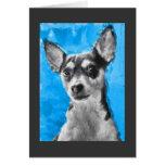Rat Terrier, Modern Dog Art Card