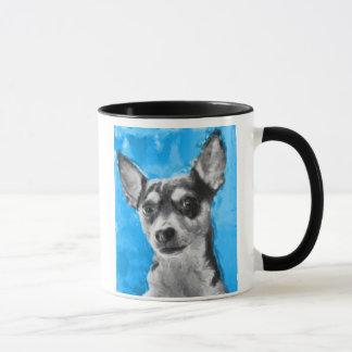 Rat Terrier, Modern Dog Art, Dog Breed Mug