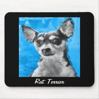 Rat Terrier, Modern Dog Art, Mousepad