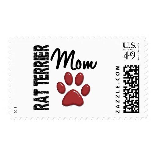 Rat Terrier Mom 2 Stamps