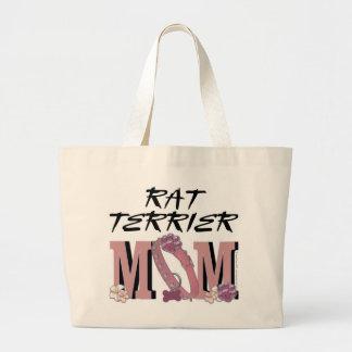 Rat Terrier MOM Canvas Bags