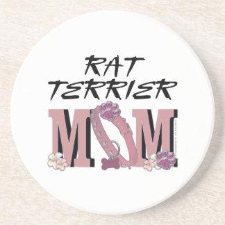 Rat Terrier MOM Drink Coasters