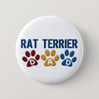 RAT TERRIER Mom Paw Print 1 Pinback Button