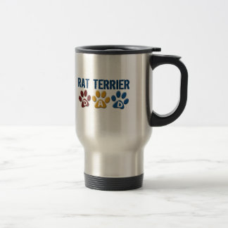 RAT TERRIER Mom Paw Print 1 Travel Mug