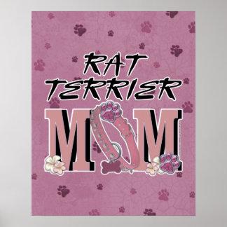 Rat Terrier MOM Poster