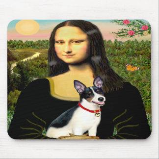 Rat Terrier - Mona Lisa Mouse Pads