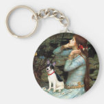 Rat Terrier - Ophelia Seated Basic Round Button Keychain
