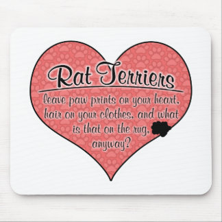 Rat Terrier Paw Prints Dog Humor Mouse Pad