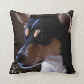 Rat Terrier Throw Pillows
