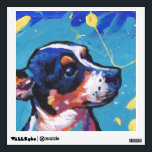 """Rat Terrier Pop Art Wall Sticker<br><div class=""""desc"""">Here&#39;s a wonderful,  bright,  fun,  tribute to your best friend and favorite breed- the little rattie!  from an original painting by Lea</div>"""