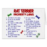 RAT TERRIER Property Laws 2 Card