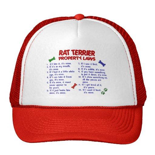RAT TERRIER Property Laws 2 Trucker Hat