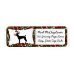 Rat Terrier Reindeer Christmas Return Address Label