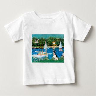 Rat Terrier - Sailboats Baby T-Shirt