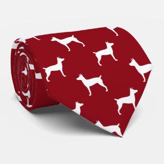Rat Terrier Silhouettes Pattern Tie