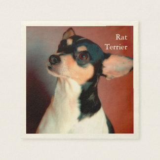 Rat Terrier Standard Cocktail Napkin