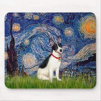 Rat Terrier - Starry Night Mouse Pad