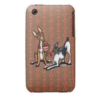 Rat Terrier Sweethearts iPhone 3 Case