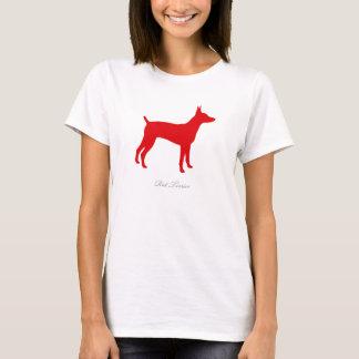 Rat Terrier T-shirt (red version 1)