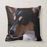 Rat Terrier Throw Pillow at Zazzle