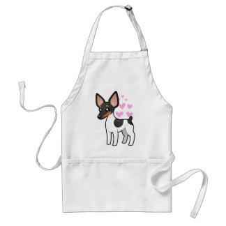 Rat Terrier / Toy Fox Terrier Love Adult Apron