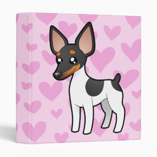 Rat Terrier / Toy Fox Terrier Love Vinyl Binders